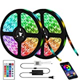 LED Strip Lights, Kwanan Color Changing LED Light Strip 32.8feet(10m) Kit SMD 5050 Waterproof Rope Lights with Bluetooth Controller Sync to Music Apply for TV, Home, Bedroom, Party (RGB)