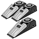 TOWODE Upgraded Wedge Door Stop Alarm with 120 dB - Great Gift for Traveling DIY Home Apartment Security Door Stopper Doorstop Safety Tools (Pack of 3)