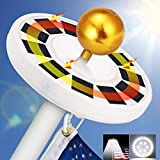 Solar Flag Pole Light, GRDE 30 LED Flag Pole Lights Solar Powered Night Light Flagpole Downlight Lighting Night Light for 15 to 25 Ft Top, Energy Saving LEDs