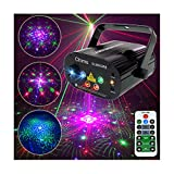 Chims DJ Laser Light Show Projector Red Green Blue Laser with LED 96 Patterns RGRB Music Sound Activated Lighting System Projector for Christmas Party Holiday Festival Gift Family Party Disco Xmas