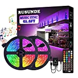 Rusunde LED Strip Lights WiFi Wireless Smart Phone APP Controlled Waterproof Light Strip Kit 5050 LED Lights Sync to Music,Compatible with Alexa,Google Home,IFTTT